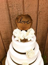country cake topper rustic wedding cake topper wooden cake topper wedding