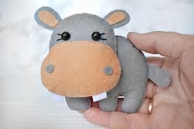 felt hippo felt hippopotamus ornaments decorations hippo toy
