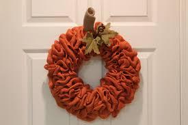 diy burlap pumpkin fall wreath the wreath depot