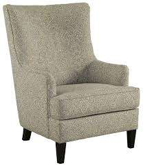 High Back Wing Chairs For Living Room by Transtional Accent Chair With Wing Back By Signature Design By