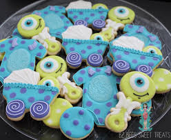 inc baby shower monsters inc baby shower cookie connection