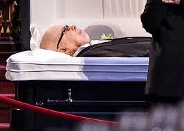 funeral casket rest in peace céline dion cries in front of rené angélil s open