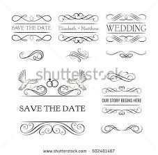 wedding ornaments decorative elements vintage ribbon stock vector
