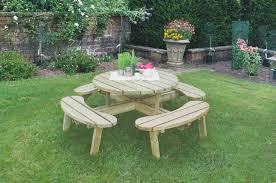 heavy duty round picnic table circular picnic table forest garden