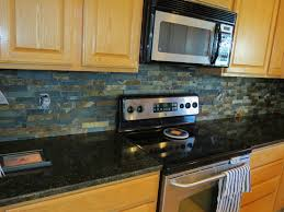 tile backsplash granite countertop u0026 oak colored cupboards