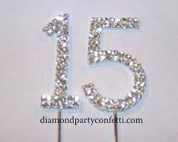 rhinestone number cake toppers cake toppers for sweet 15 rhinestone number birthday topper