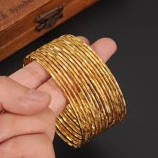 gold bangles bracelet images Online shop 5 pcs dubai gold bangle 2 6 inchesethiopian bangle jpg