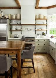 Open Kitchen Shelves Farmhouse Style Open Shelves White - Kitchen shelves and cabinets