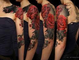 roses flower sleeve tattoos for tattoos