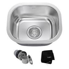 Single Kitchen Sinks by Kraus Undermount Stainless Steel 15 In Single Basin Kitchen Sink