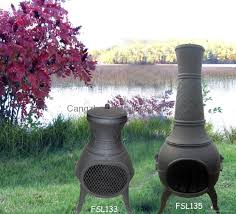 Cast Iron Outdoor Fireplace by Exterior Design Cmc Cast Iron Chiminea And Steel Firebasket