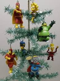 the simpsons tree ornament set