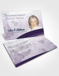 bifold order of service obituary template brochure superior wisdom