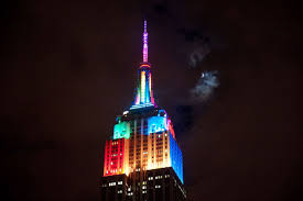 halloween led spotlights leds light up nyc for the empire state building halloween light