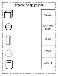 best ideas of 3 d shape worksheets in template sample