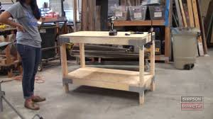 Free Simple Wood Workbench Plans by Easy To Build Workbench Kit Youtube