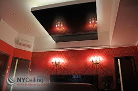 bedroom ceiling mirror nyceiling inc portfolio bedroom glossy black stretch ceiling