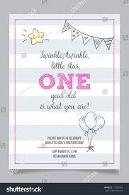 twinkle twinkle little star girls first stock vector 712600750