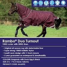 Rambo Lightweight Turnout Rug Horseware Rambo Wug 0g Lightweight Turnout Rug Cork Farm Equestrian