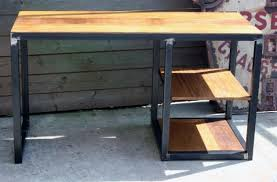 bureau metal et bois création meuble industriel bois mètal sur mesure