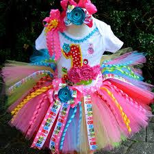 ribbon tutu yo gabba gabba birthday couture curly ribbon tutu set