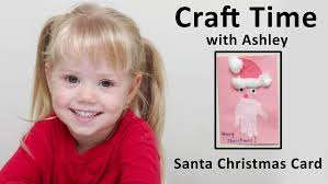 how to make a santa christmas card craft time with ashley youtube