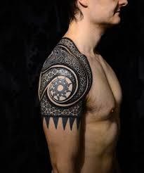 droll tribal tattoo 7 tribal shoulder tattoo on tattoochief com