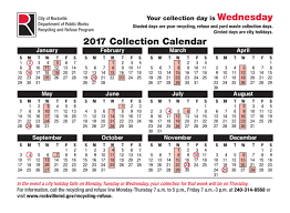 thanksgiving day is on what date rockville md official website holiday collection schedule