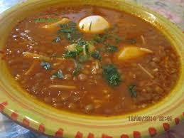 cuisine traditionnelle algeroise soupe de lentilles maman a l algeroise cuisine de zika