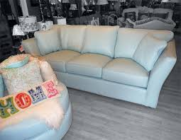 Light Blue Leather Sectional Sofa Outstanding Omnia Leather 3 Seat Sofa Light Blue Arrow
