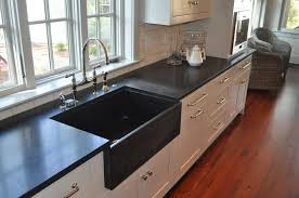 black countertop with black sink the beauty of honed granite countertops home ideas collection