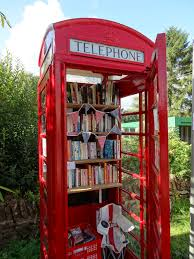 library in a telephone box chestnut book