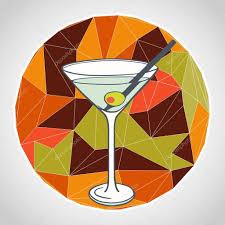 martini olive vector copa de martini con aceituna u2014 vector de stock tashanatasha