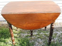 Oak Drop Leaf Table Antique Furniture Dyer S Auction Service Llc