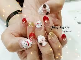 cny nails glitzy fingers