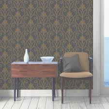 Black Damask Wallpaper Home Decor by Fine Decor Tuscany Damask Wallpaper Black Gold Fd40466
