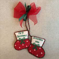 Christmas Ornaments Baby 845 Best Christmas Needlepoint Finishing Images On Pinterest