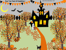 halloween activity for kids pumpkin search