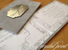 Engraved Wedding Invitations Wow Suede Engraved Wedding Invitation Invited Pinterest Diy