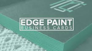 Embossed Business Cards Sydney Edge Painted Business Cards Diy Youtube
