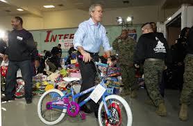 George W Bush Birth George W Bush Visits Children U0027s Hospital In Santa Suit Aol News