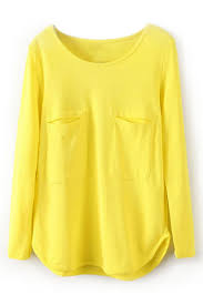 yellow blouse abaday asymmetric pocketed yellow blouse the fashion