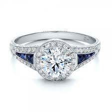 sapphire engagement rings halo and blue sapphire engagement ring 100391