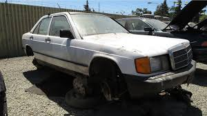 junkyard find 1987 mercedes benz 190e 601 173 mile edition the