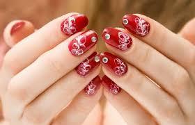 amusing red nail polish designs coodots