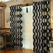 Silver Black Curtains Silver Striped Blackout Striped Room Divider Curtain