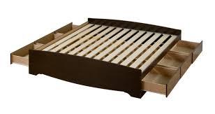 King Platform Storage Bed Prepac Fremont Espresso King Platform 6 Drawer Storage Bed