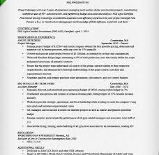 Agile Resume Manager Resume Examples Resume Example And Free Resume Maker