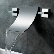 wall mounted waterfall shower faucet