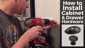 how to install cabinet and drawer hardware youtube